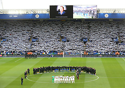 Two minutes silence before the match at the King Power Stadium to commemorate Remembrance Day and in honour of Leicester City.