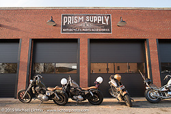 In front of Prism Supply Co during the Congregation Show. Charlotte, NC. USA. Saturday April 14, 2018. Photography ©2018 Michael Lichter.