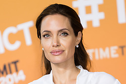 © Licensed to London News Pictures. 11/06/2014. London, UK. Angelina Jolie arrives at the Global Summit to End Sexual Violence in Conflict at The ExCel, London, UK.. Photo credit : Vickie Flores/LNP