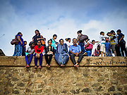 05 OCTOBER 2017 - COLOMBO, SRI LANKA: People sit on the sea wall at Galleface in Colombo, Sri Lanka.     PHOTO BY JACK KURTZ