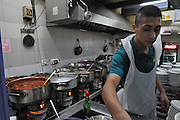 Israel, West Jerusalem, Rachmo Restaurant, traditional restaurant still using kerosene burners for cooking Ha Eshkol Street Machane Yehuda neighbourhood