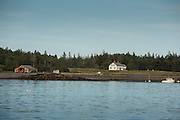 Southwest Harbor, ME - 12 August 2014. Looking across to Greening Island from Clark Point.