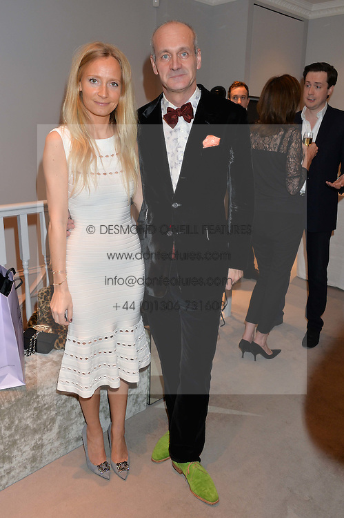 PATRICK COUDERC CEO Herve Leger UK and MARTHA WARD at a party at Herve Leger, Lowndes Street, London on 12th November 2014 to view the latest collection.