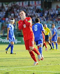 Wayne Rooney of England (Manchester United) celebrates scoring to equal Sir Bobby Charlton's goals record for England  - Mandatory byline: Joe Meredith/JMP - 07966386802 - 05/09/2015 - FOOTBALL- INTERNATIONAL - San Marino Stadium - Serravalle - San Marino v England - UEFA EURO Qualifers Group Stage