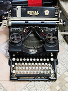 Old style Royal typewriter with ribbon
