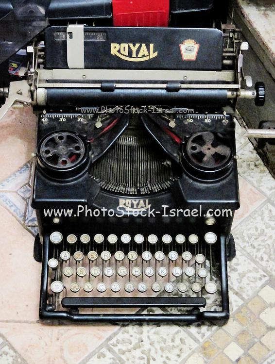 Old style Royal typewriter with ribbon