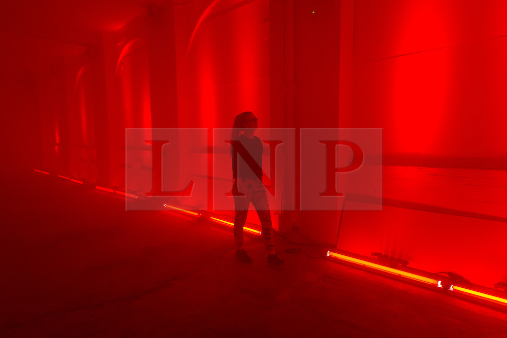 © Licensed to London News Pictures. 20/09/2016. Visitor views art installation titled Mirror Maze by set designer ES Devlin was commissioned by  The Fifth Sense, a partnership between Chanel and  i-D, conjures a complex imagined world played out over four rooms created in response to fragrance and exploring the way it can recall memories, time and places unsolicited.<br /> London, UK. Photo credit: Ray Tang/LNP