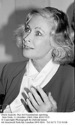 Doris Saatchi. Dia Art Foundation opening. New York. 11 October 1989. Film 89337f35<br />© Copyright Photograph by Dafydd Jones<br />66 Stockwell Park Rd. London SW9 0DA<br />Tel 0171 733 0108