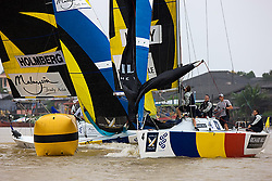 2008 Monsoon Cup. Magnus Holmberg trailing Torvar Mirsky at the top mark (Saturday the 6th December 2008). .