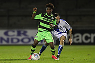 Forest Green Rovers Jesse Mansaray(15) on the ball during the The FA Youth Cup match between Bristol Rovers and Forest Green Rovers at the Memorial Stadium, Bristol, England on 2 November 2017. Photo by Shane Healey.
