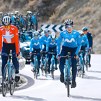 Emma Norsgaard, Sara Martín. 2021 Movistar Team Training Camp, Almería. 10.1.2021.