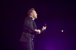 Olly Murs on stage at the SSE Hydro.