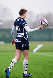 Nathan Chamberlain (SGS College) of Bristol Rugby Academy U18 celebrates his try - Mandatory by-line: Paul Knight/JMP - 11/02/2017 - RUGBY - SGS Wise Campus - Bristol, England - Bristol Academy v Gloucester Academy - Premiership Rugby Academy U18 League