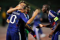 FOOTBALL - UEFA EURO 2012 - QUALIFYING - GROUP D - BOSNIA v FRANCE - 7/09/2010 - PHOTO GUY JEFFROY / DPPI - JOY FRANCE