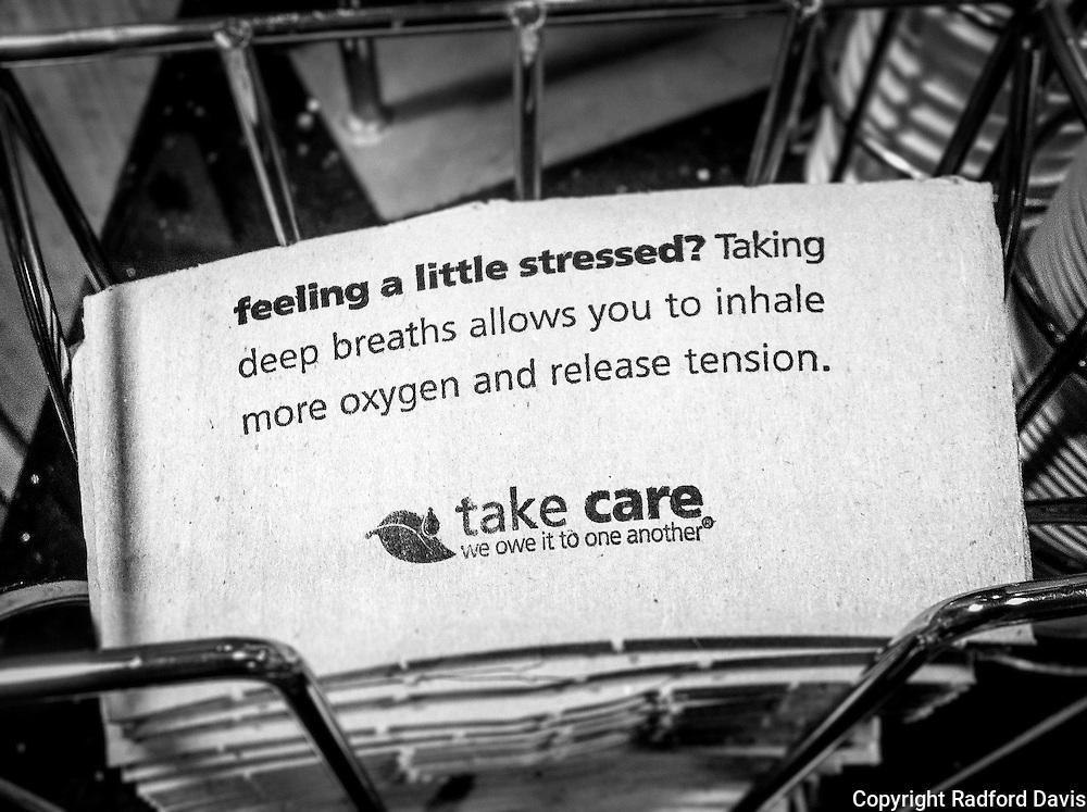 Feeling stressed? Coffee cup sleeve