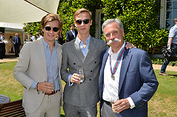 Lord Settrington, the Hon.Will Gordon-Lennox and Chase Carey at the Cartier Style et Luxe at the Goodwood Festival of Speed, Goodwood, West Sussex, England. 2 July 2017.<br /> Photo by Dominic O'Neill/SilverHub 0203 174 1069 sales@silverhubmedia.com