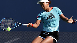March 21, 2019 - Miami, Florida, United States - March 21, 2019 - Miami Gardens, Florida, United States - Naomi Osaka of Japan returns a shot on the practice courts at the Hard Rock Stadium at the Miami Open on March 21, 2019 in Miami Gardens, Florida. (Credit Image: © Paul Hennessy/NurPhoto via ZUMA Press)