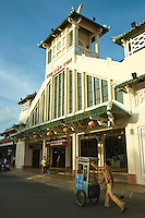 The Public Market is a good example of French Colonial Architecture in Can Tho - In order to make the French colonists feel more at home and at the same time to reflect its vision of imperial grandeur, the French colonial government set about systematically rebuilding Vietnamese cities according to European specifications.
