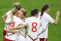 20111026 Barcelos: Portugal vs. Dinamarca, UEFA Women's Euro 2013 Qualifying, Group 7. In picture: Denmark celebrate a goal. Photo: Pedro Benavente/Cityfiles