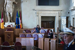 May 9, 2017 - Rome, Italy, Italy - Extraordinary municipal council, dedicated to the TPL Transport Company's affair, for non -payment of salaries, against workers. (Credit Image: © Andtea Ronchini/Pacific Press via ZUMA Wire)