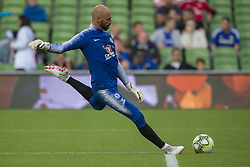 August 2, 2018 - Dublin, Ireland - Willy Caballero of Chelsea kicks the ball during the International Champions Cup match between Arsenal FC and Chelsea FC at Aviva Stadium in Dublin, Ireland on August 1, 2018  (Credit Image: © Andrew Surma/NurPhoto via ZUMA Press)