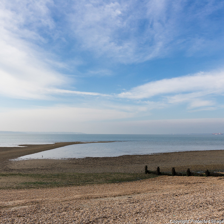 The Solent from Hill Head, Hampshire.