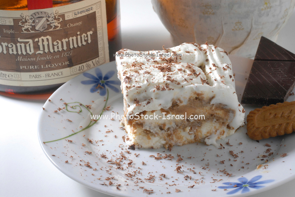 Orange flavoured cream cake with Grand Marnier