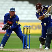 Surrey's Mark Ramprakash in action against Derbyshire.