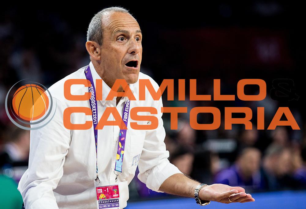 Ettore Messina<br /> Nazionale Italiana Maschile Senior<br /> Eurobasket 2017 - Final Phase - Round of 16<br /> Finlandia Italia Finland Italy<br /> FIP 2017<br /> Istanbul, 09/09/2017<br /> Foto GiulioCiamillo / Ciamillo - Castoria