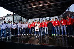 Maja Makovec Brencic at reception of Slovenian volleyball team with silver medal from 2015 CEV Volleyball European Championship (MEN) Bulgaria / Italy , on October 19, 2015 at Kongresni try, Ljubljana, Slovenia. Photo by Matic Klansek Velej / Sportida