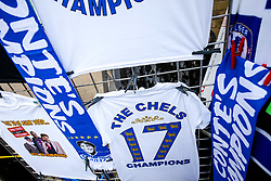 Champion tshirts outside the stadium to celebrate Chelsea's 2016/17 Premier League win - Rogan Thomson/JMP - 21/05/2017 - FOOTBALL - Stamford Bridge - London, England - Chelsea v Sunderland - Premier League..
