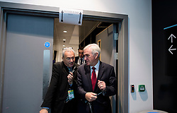© Licensed to London News Pictures. 26/09/2016. Liverpool, UK. Shadow Chancellor JOHN MCDONNELL seen being interviewed on the  morning of day two of the Labour Party Annual Conference, held at the ACC in Liverpool, merseyside, UK. Photo credit: Ben Cawthra/LNP