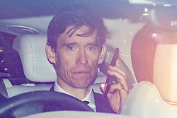 © Licensed to London News Pictures. 17/06/2019. London, UK. Secretary of State for International Development Rory Stewart leaves Parliament in a car after taking part in hustings in front of lobby journalists. A second round of voting on the new leader will take place tomorrow. Photo credit: Rob Pinney/LNP
