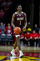 NORMAL, IL - January 07: Keandre Cook during a college basketball game between the ISU Redbirds and the University of Missouri State Bears on January 07 2020 at Redbird Arena in Normal, IL. (Photo by Alan Look)