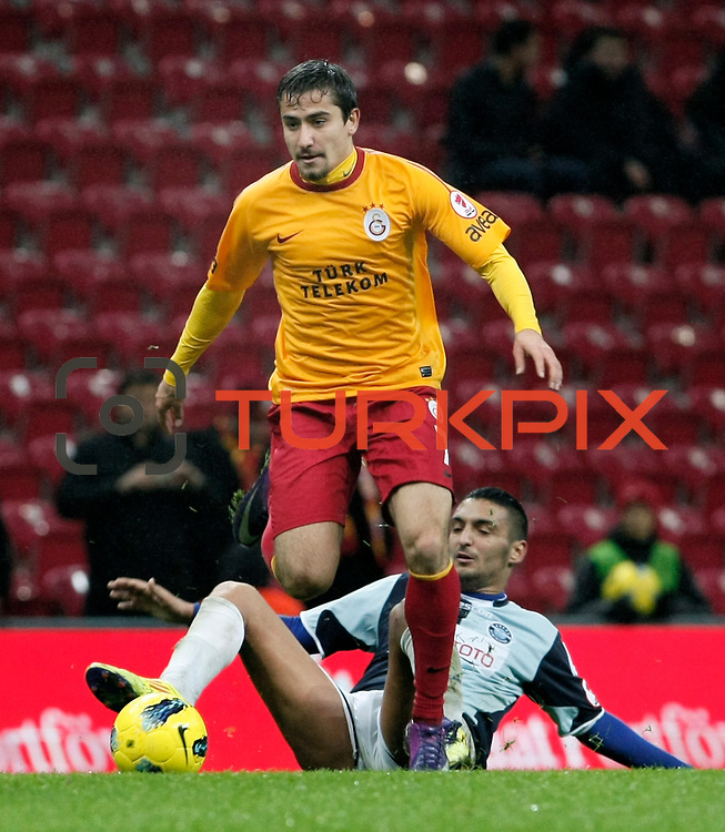 Galatasaray's Aydin Yilmaz during their Turkey Cup matchday 3 soccer match Galatasaray between AdanaDemirspor at the Turk Telekom Arena at Aslantepe in Istanbul Turkey on Tuesday 10 January 2012. Photo by TURKPIX