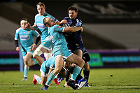 Rugby Union - 2020 / 2021 Gallagher Premiership - Sale Sharks vs Worcester Warriors - AJ Bell Stadium<br /> <br /> Chris Pennell of Worcester Warriors and Will Cliff of Sale Sharks<br /> <br /> COLORSPORT/PAUL GREENWOOD