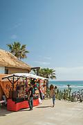 Market stall by Sajorami beach in Zahora, Spain