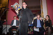 THE REVEREND RICHARD COLES ; ALEXANDER WAUGH, LUCY BERESFORD BEHIND, The Literary Review Bad Sex in Fiction Award 2014. The In and Out ( Naval and Military ) Club, 4 St. James's Sq. London SW1. 3 December 2014.