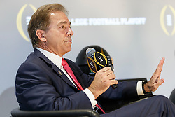 General images during the ESPN College Football Playoff Coaches <br /> News Conference at the College Football Hall of Fame on Thursday, December 8, 2016, in Atlanta. (Paul Abell/Abell Images for Chick-fil-A Peach Bowl)