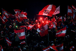 Austrian flags  during Second round of the FIS Ski Jumping World Cup event of the 58th Four Hills ski jumping tournament, on January 6, 2010 in Bischofshofen, Austria. (Photo by Vid Ponikvar / Sportida)