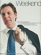 Alan Milburn MP cover, for Guardian Weekend Magazine, London