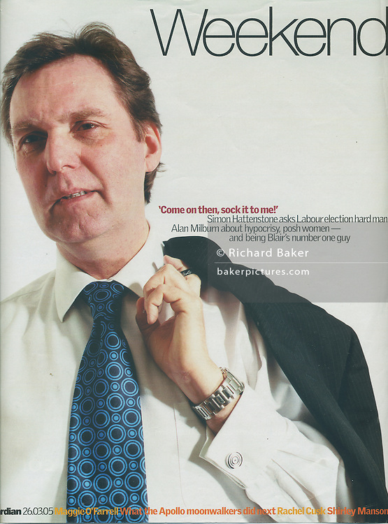 Alan Milburn MP cover, for Guardian Weekend Magazine, London