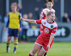 Bristol Academy's Nikki Watts celebrates her second-half equaliser against Arsenal Ladies - Photo mandatory by-line: Paul Knight/JMP - Mobile: 07966 386802 - 09/05/2015 - SPORT - Football - Bristol - Stoke Gifford Stadium - Bristol Academy Women v Arsenal Ladies FC - FA Women's Super League