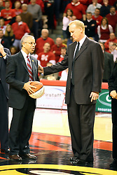 03 February 2007: Al Bowman and Doug Collins. In what is locally referred to as the War on Seventy Four, the Bradley Braves defeated the Illinois State University Redbirds 70-62 on Doug Collins Court inside Redbird Arena in Normal Illinois.