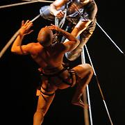 A moment of a Fura del Baus performance, 2004