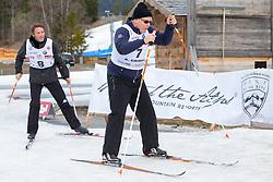 22.03.2014, Gschwandtkopf, Seefeld, AUT, 8. World Star Ski Event, Star Team for Children, Biathlon, im Bild v.l. Emanuele Filiberto von Savoyenc, Prinz Albert II von Monaco // during the Biathlon of Star Team for Children of 8th World Star Ski Event at the Gschwandtkopf course in Seefeld, Austria on 2014/03/22. EXPA Pictures © 2014, PhotoCredit: EXPA/ Johann Groder
