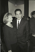 KAY SAATCHI; CHARLES SAATCHI, Sensation Opening. Royal Academy of Art. London.16 September 1997.
