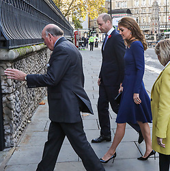 © Licensed to London News Pictures. 07/11/2019. London, UK. The Duke and Duchess of Cambridge arrive at the launch of the National Emergencies Trust at St Martin-in-the-Field, London. The National Emergencies Trust is an independent charity which will provide an emergency response to disasters in the UK. Photo credit: Alex Lentati/LNP