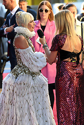 Lady Gaga being interviewed by Edith Bowman at the UK Premiere of A Star is Born held at the Vue West End, Leicester Square, London. Photo credit should read: Doug Peters/EMPICS