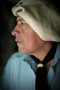 Portrait of Gaucho Claudio Inal, Estancia Huechahue, Patagonia, Argentina, South America